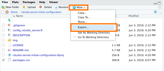 plot of chunk rstudio-packages-csv-export
